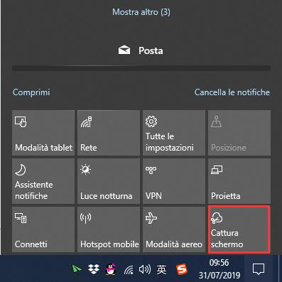 screenshot su Windows 10