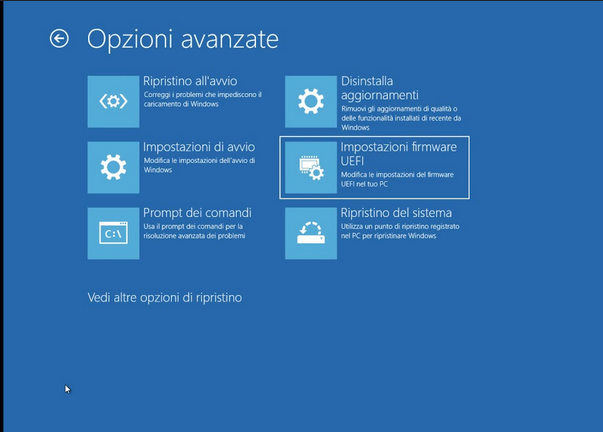 Guida configurazione BIOS/UEFI