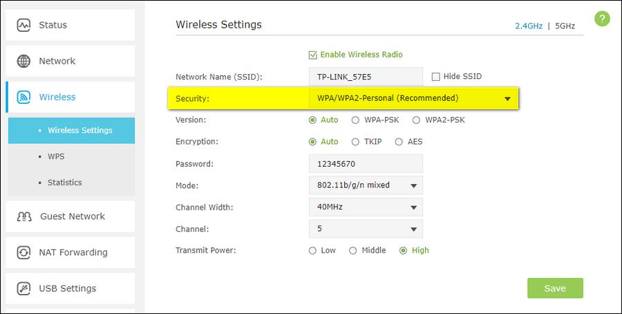 Protocollo di sicurezza wireless
