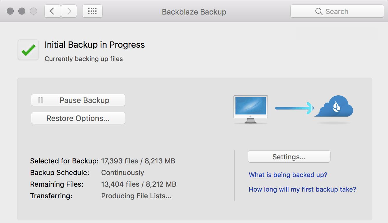 Come eseguire il backup di un computer