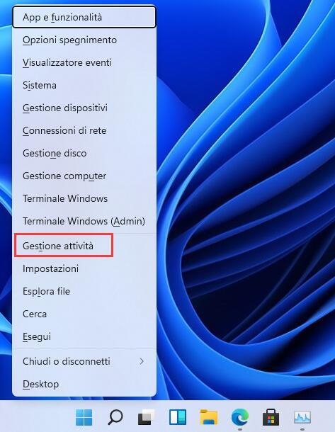 Windows + X